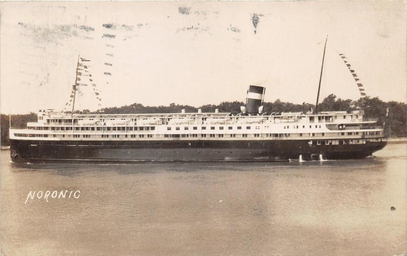 Canada Steamship Lines Ship Noronic~1935 RPPC pm @ Salt Ste Marie Ontario
