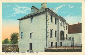 Caryle House (Restored) Alexandra Virginia VA White Border P