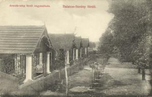 hungary, BALATONBERÉNY, Fürdö, Street Scene (1910s)