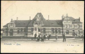 belgium, VILVORDE VILVOORDE, Gare, Railway Station (1899) Stamp