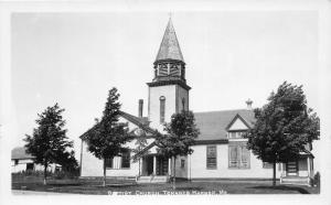 F21/ Tenants Harbor Maine RPPC Postcard c1920s Baptist Church