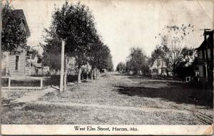 Hardin Missouri~West Elm Street Homes~Chicken Wire Fence~Dirt Road~1912 B&W PC