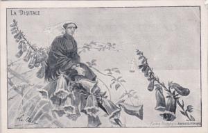 Art Nouveau : Dutch girl La Digitale , Cartes postales de Journal des Voyag...