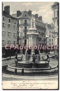 Old Postcard Grenoble Monument Du Centenaire By Henry Ding