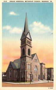 Virginia Roanoke Greene Memorial Methodist Church