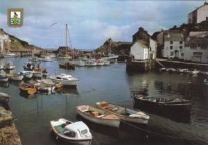 Boats at Inner Harbour, Polperro, Cornwall, England, UK, 1950-60's