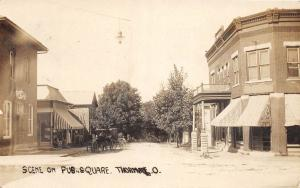 D10/ Thornville Ohio Postcard Real Photo RPPC 1910 Public Square Hotel Store