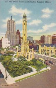Illinois Old Water Tower And Palmolive Building