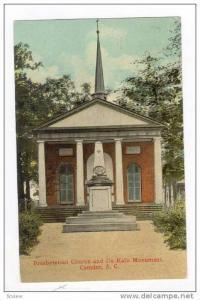 Camden. South Carolina  Presbyterian Church & De Kalb Monument, PU-1914