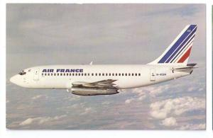 Air France Boeing 737 - 247 Aircraft Vintage Aviation Postcard Airplane
