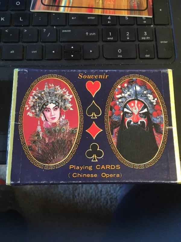 Souvenir Playing Cards; Chinese Opera, Double Deck with Booklet