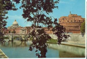 Italy, Rome, Roma, Saint Angelo Bridge and Castle, unused Postcard