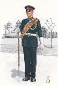 Drum Major Staff Band Royal Army Medical Corps Uniform Postcard