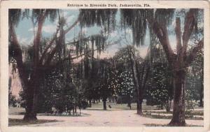 Florida Jacksonville Entrance To Riverside Park 1940