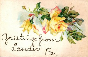 Pennsylvania Greetings From Lander With Roses