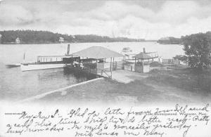 Worcester Massachusetts Lake Quinsigamond Boat Dock Vintage Postcard JD933460