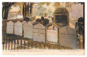 UK Wordsworths Grave Grasmere Church Yard Postcard