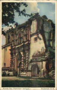 Guatemala - Ruins San Francisco Antigua Old Postcard