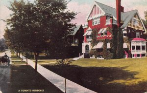 A Toronto Residence, Toronto, Ontario, Canada, Early Postcard, Used in 1909