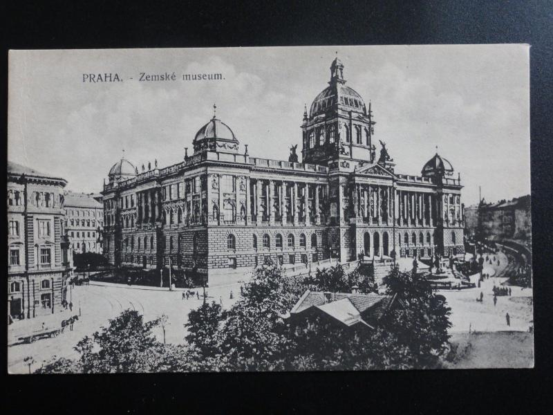 Czech Republic: Prague, PRAHA Zemske museum Old Postcard Pub by V.K.K.V