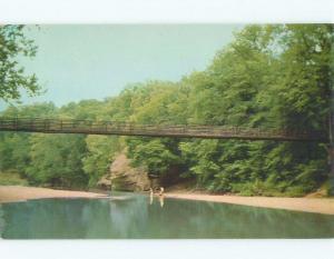 Unused Pre-1980 BRIDGE SCENE Marshall Indiana IN d3636