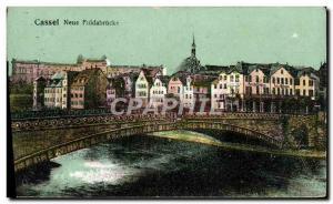 Postcard Old Cassel Neue Fuldabrücke