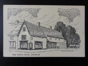 Essex DEDHAM The Essex Rose - Art by Edmund Starling c1965 - Old Postcard
