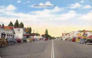 Encinitas California~Grand Hotel & Cafe~Garage~Service Station~1940s Linen PC