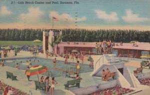 Florida Sarasota Lido Beach and Pool 1953 Curteich