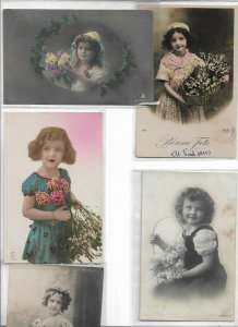 Beautiful Kids RPPC Postcard Lot of 10 01.10