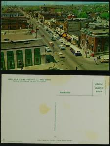 Queen Street aerial view Sault Ste. Marie Ontario c 1960s