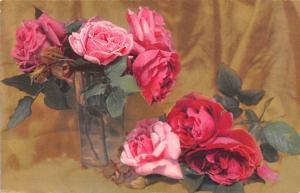 Roses Vase Glass Artistic Flowers, Fleurs, Kuenstler