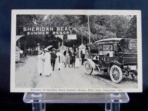 Flint Lake, Valparaiso, IN - Entrance to Sheridan Beach - Indiana