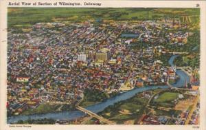 Delaware Wilmington Aerial View 1952