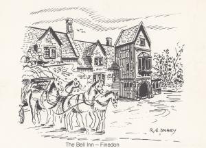 The Bell Inn Finedon Pub Postal Anniversary Northampton Postcard