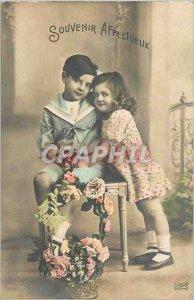 Postcard Old Children
