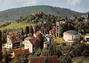 Thermalkurort Badenweiler Schwarzwald, Kath Pfarrkirche St Peter und Burgruine