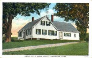 Birthplace of Madam Nordica Farmington ME 1936