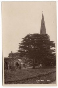Spratton Church, Northamptonshire Vintage Real Photo Postcard