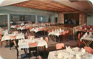 Brunos Restaurant North Easton Massachusetts dance floor stage Postcard