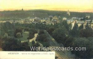 Wiesbaden Germany, Deutschland Postcard Nerothal mit Kriegerdenkmal u Griech ...