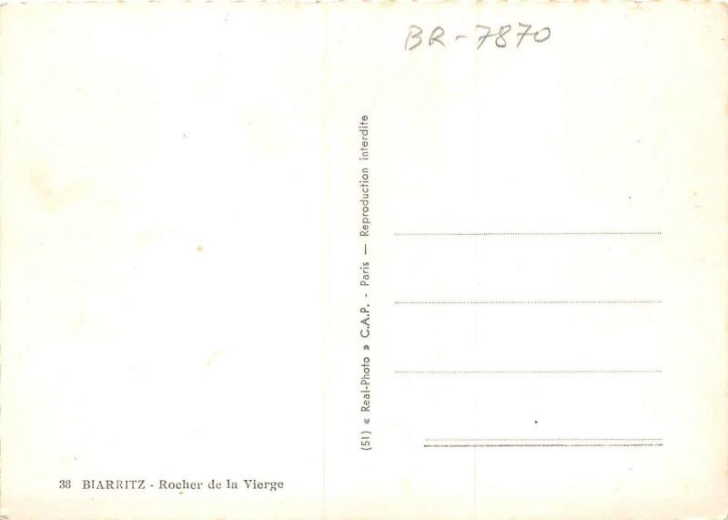 BR7870 Rocher de la Vierge Biarritz  france