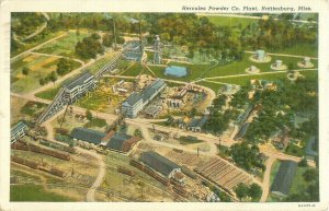 Hattiesburg, Mississippi Hercules Powder Co. Aerial View 1941 Linen Postcard