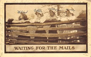 Double Meaning Waiting for the Mails 1911