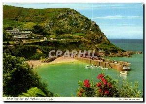 UK Postcard Modern Jersey Goodnight Bay and harbor