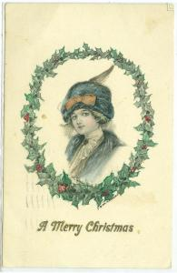 Christmas - Artist Signed & Hand Colored, A. Toniolo, 1912 S. Bros. N.Y.