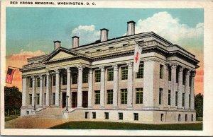 Vtg Red Cross Memorial Washington DC Unused Postcard