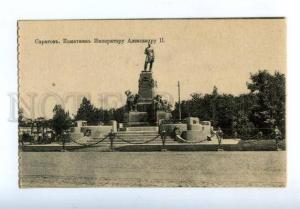 169719 Russia SARATOV Alexander II Monument 1916 Vintage PC
