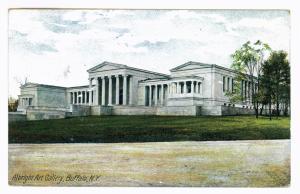 Millgrove to Buffalo, New York 1907 used Postcard, Albright Art Gallery