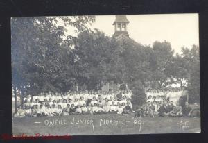 RPPC O'NEILL NEBRASKA JUNIOR STATE NORMAL SCHOOL 1909 REAL PHOTO POSTCARD